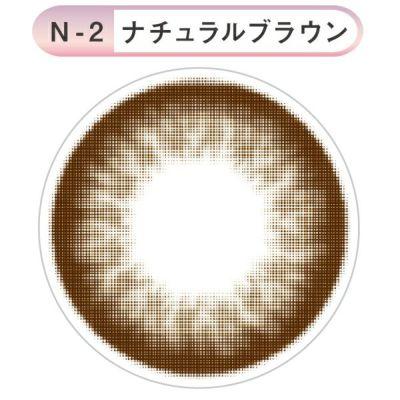 リトルハニップ/N2ナチュラルブラウン/1M/2枚/14.2/8.6/マンスリー/カラコン/0.00